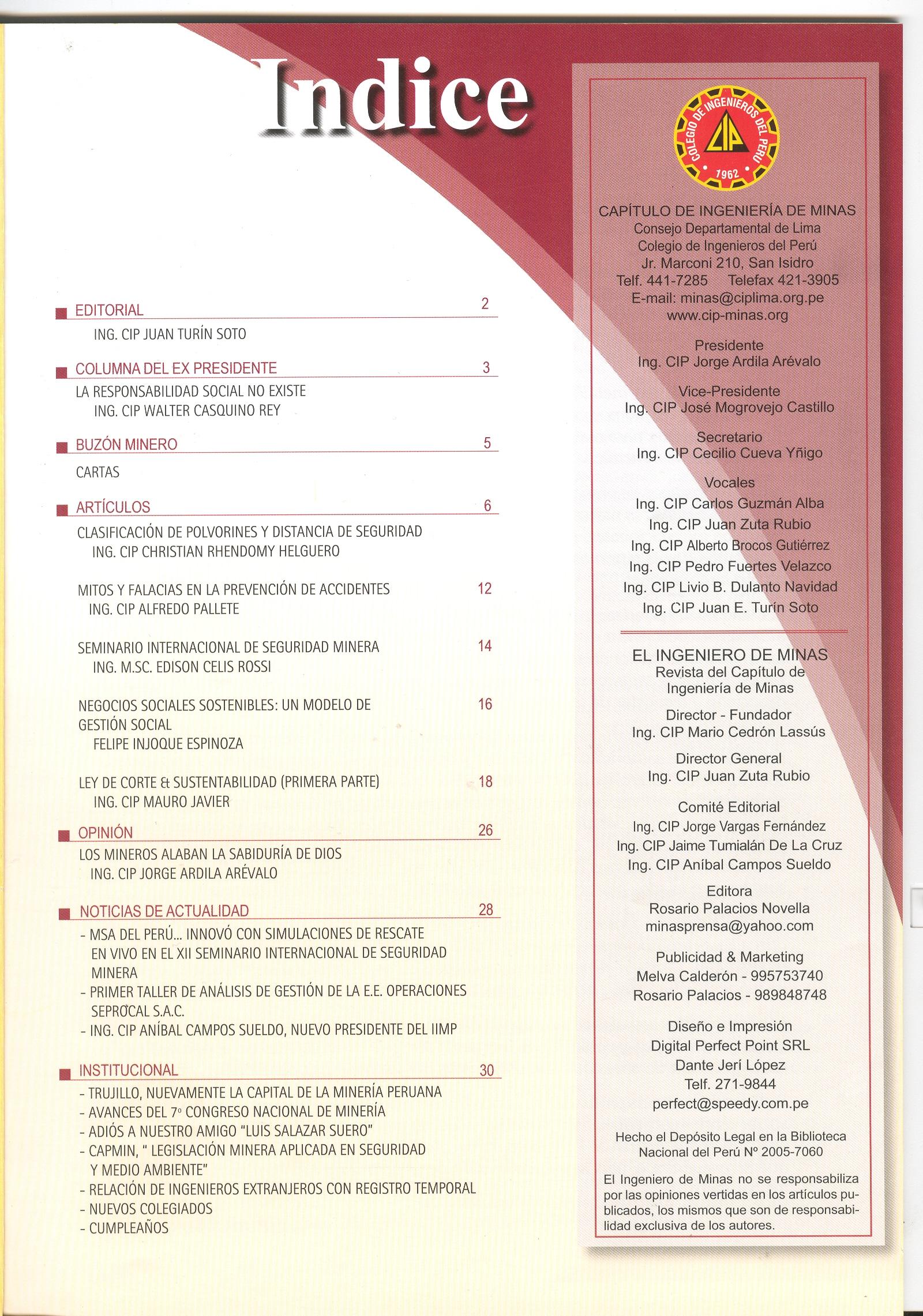 Revista El Ingeniero De Minas